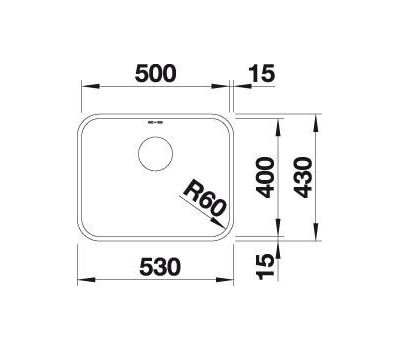 Мойка BLANCO SUPRA 500-U (с корзинчатым вентилем) 518205