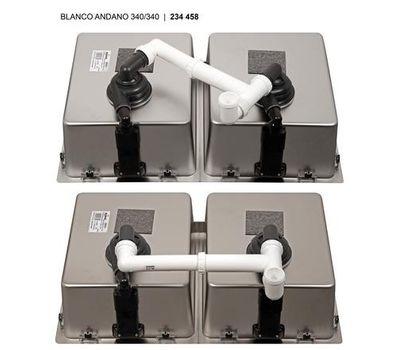 Мойка BLANCO ANDANO 340/340-U (без клапана-автомата)   522983