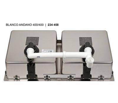 Мойка BLANCO ANDANO 400/400-U (без клапана-автомата)  522987