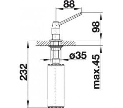 Дозатор BLANCO TANGO (нержавеющая сталь)