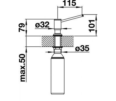 Дозатор BLANCO LIVIA (полированная латунь) 521292