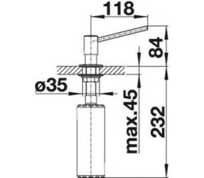 Дозатор BLANCO TORRE (нержавеющая сталь) 512594