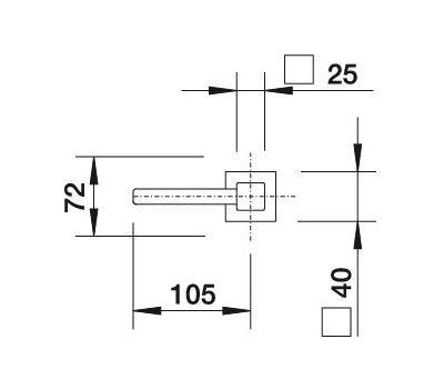 Дозатор BLANCO LEVOS (сталь с зеркальной полировкой)