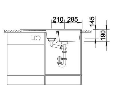 Мойка BLANCO LEXA 6 S (оборачиваемая)  арт. 514671