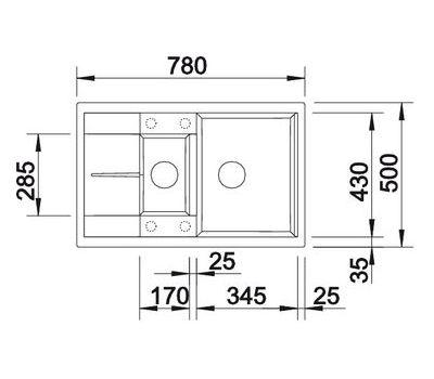 Мойка BLANCO METRA 6 S Compact  арт. 513469