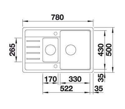 Мойка BLANCO LEGRA 6 S Compact  арт. 521305