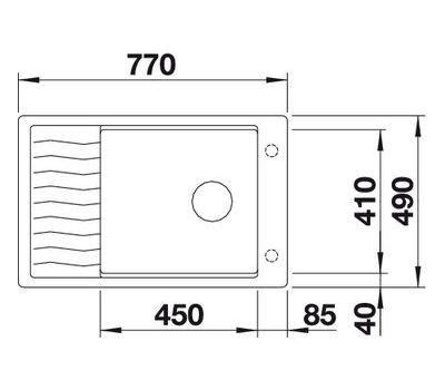 Мойка BLANCO ELON XL 6 S-F (оборачиваемая)