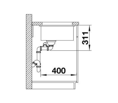 Мойка BLANCO SUBLINE 350/150-U (керамика)