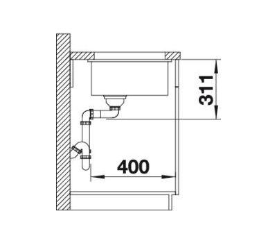 Мойка BLANCO SUBLINE 375-U (Керамика PuraPlus™ )