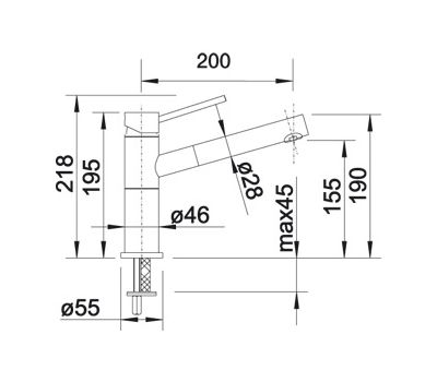 Смеситель BLANCO ALTA-S Compact (нержавеющая сталь) 517182