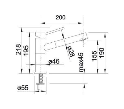 Смеситель BLANCO ALTA-S Compact chrome/silgranit