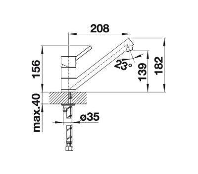 Смеситель BLANCO ANTAS chrome/silgranit  арт. 515340