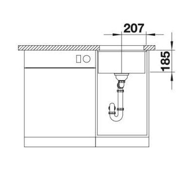 Мойка BLANCO SUBLINE 375-U (керамика) 516035
