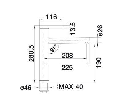 Смеситель BLANCO LINEE (хром) 517594