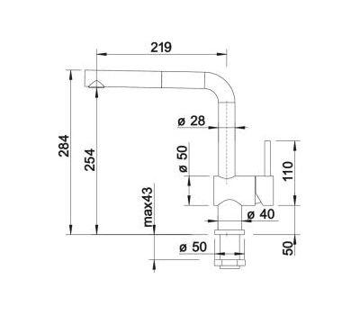 Смеситель BLANCO LINUS-S-F (нержавеющая сталь)  арт. 514024