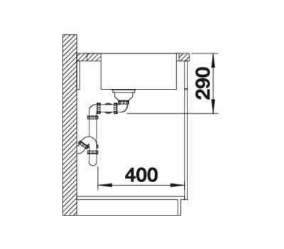 Мойка BLANCO ANDANO 340/340-IF/A (с клапаном-автоматом)
