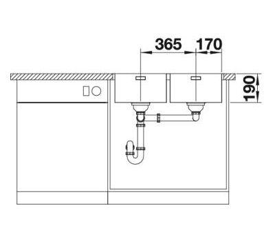Мойка BLANCO ANDANO 340/340-IF (без клапана-автомата)