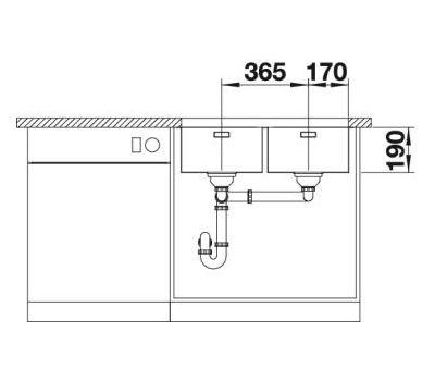 Мойка BLANCO ANDANO 340/340-U (без клапана-автомата)  арт. 522983