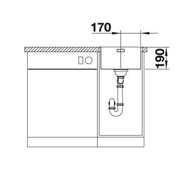 Мойка BLANCO ANDANO 340-IF (с клапаном-автоматом)  арт. 518308