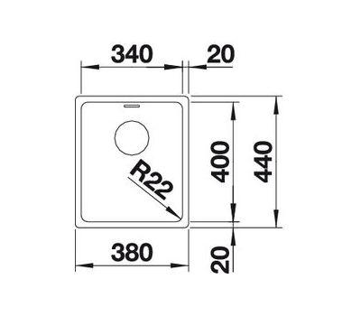 Мойка BLANCO ANDANO 340-U  (без клапана-автомата)  арт. 522955