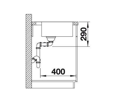 Мойка BLANCO ANDANO 400/400-IF/A правая (с клапаном-автоматом)