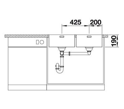Мойка BLANCO ANDANO 400/400-IF (с клапаном-автоматом)  арт. 518328