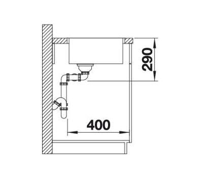 Мойка BLANCO ANDANO 400/400-IF (без клапана-автомата)