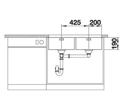 Мойка BLANCO ANDANO 400/400-U (без клапана-автомата)