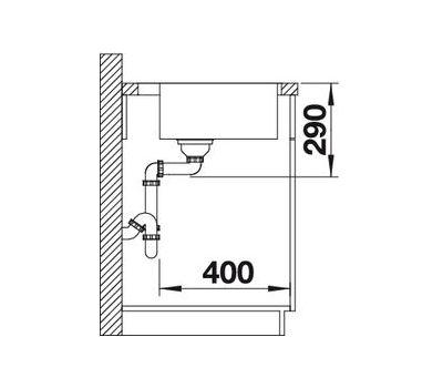 Мойка BLANCO ANDANO 400-IF (с клапаном-автоматом)