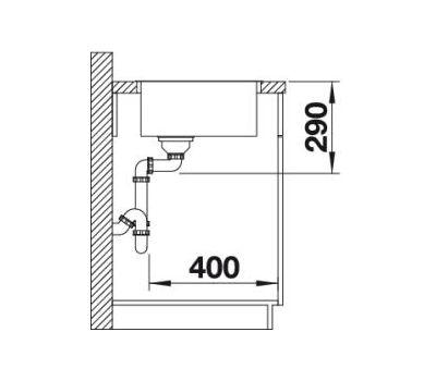 Мойка BLANCO ANDANO 400-IF (без клапана-автомата)