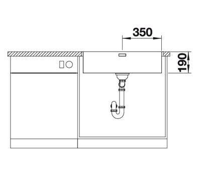 Мойка BLANCO ANDANO 700-IF (с клапаном-автоматом)