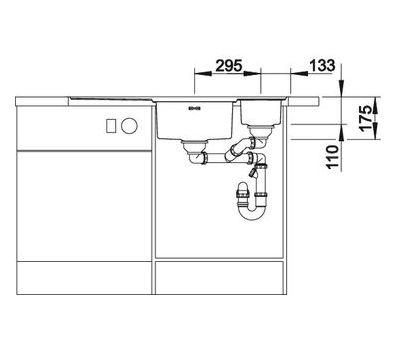 Мойка BLANCO AXIS III 6 S-IF  арт. 522105