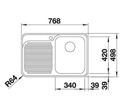 Мойка BLANCO CLASSIC 4 S-IF (чаша справа)  арт. 518766