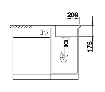 Мойка BLANCO CLASSIC 4 S-IF (чаша слева)