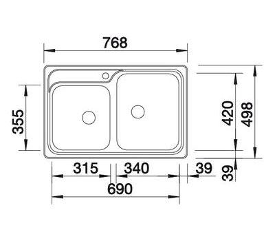 Мойка BLANCO CLASSIC 8-IF (чаша справа)
