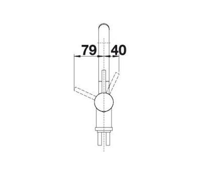 Смеситель BLANCO LINUS-S рычаг справа (хром)  арт. 512402