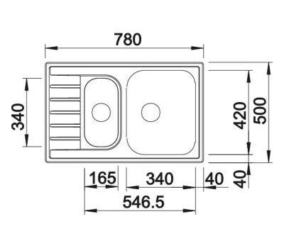 Мойка BLANCO LIVIT 6 S Compact (полированная) 515117