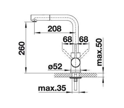 Смеситель BLANCO MILA-S  (хром) 524214