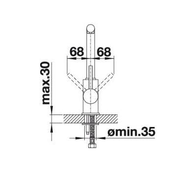Смеситель BLANCO MILA  (хром)