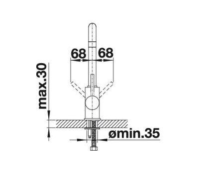 Смеситель BLANCO MILI  (хром) 524212