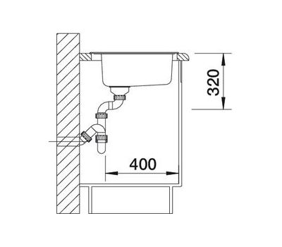 Кухонная мойка Blanco Rondoval нержавеющая сталь полированная