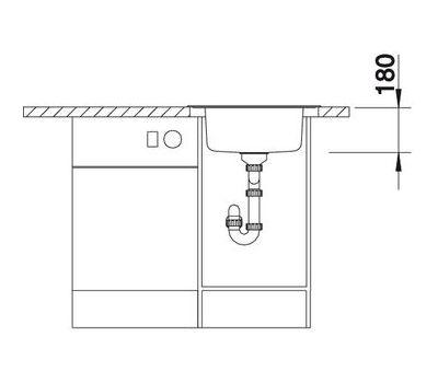 Кухонная мойка Blanco Rondoval нержавеющая сталь матовая 513312  арт. 513312