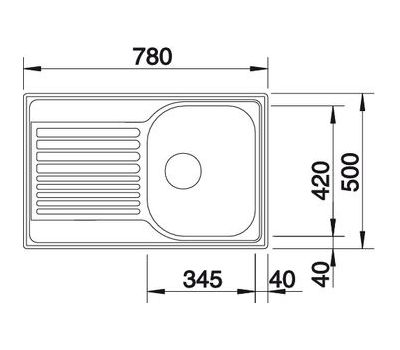 Мойка BLANCO TIPO 45 S Compact  (матовая)