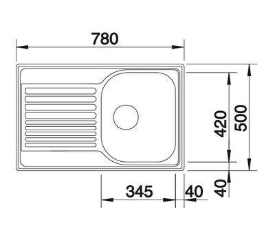Мойка BLANCO TIPO 45 S Compact (полированная) 513442