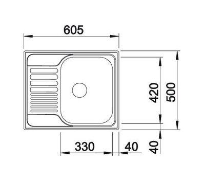 Мойка BLANCO TIPO 45 S Mini (декор) 516525