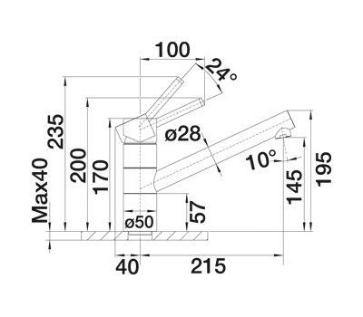 Смеситель BLANCO TIVO  (хром) арт. 517599