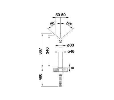 Смеситель BLANCO VONDA Control (нержавеющая сталь)