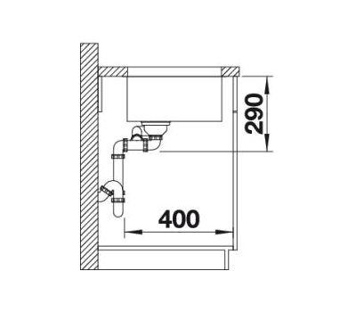 Мойка BLANCO ANDANO 500/180-U (без клапана-автомата)