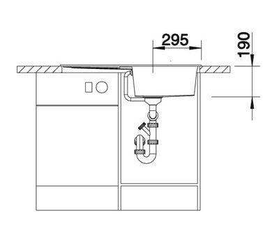 Мойка BLANCO METRA 5 S (оборачиваемая)