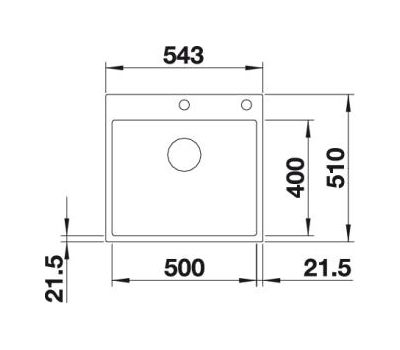Мойка BLANCO SUBLINE 500-IF/A SteelFrame (белый)  арт. 524112